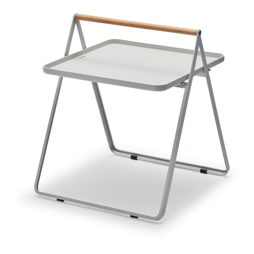 By Your Side Table, L42 x W43 x H49cm, Light Grey