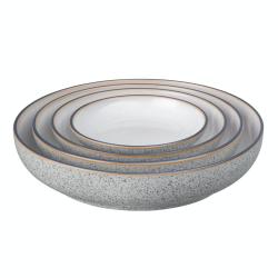 Studio Grey Set of 4 nesting bowls, Granite