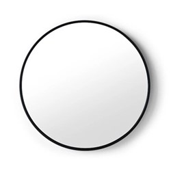 Bex Large round mirror, 76cm, Black