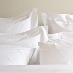 Classic - 400 Thread Count Square standard pillowcase, W65 x L65cm, white sateen cotton