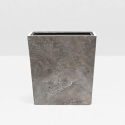 Veneto Wastebasket, H28 x W20cm, gray polished marble