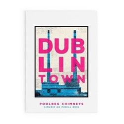 Dublin Town Collection - Poolbeg Chimneys Framed print, A4 size, multicoloured