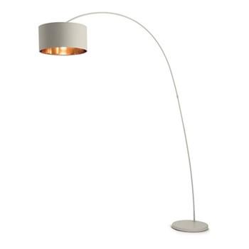 Sweep Floor lamp, H213 x W148 x D40cm, matt grey with copper