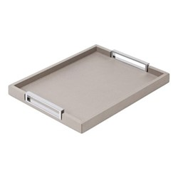 Victor Rectangular tray, 27.5 x 38cm, grey