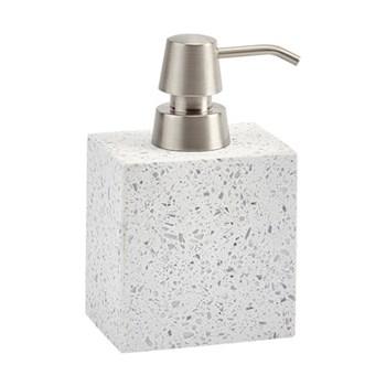Quartz Soap dispenser, L10 x W7 x H15.5cm, terrazzo