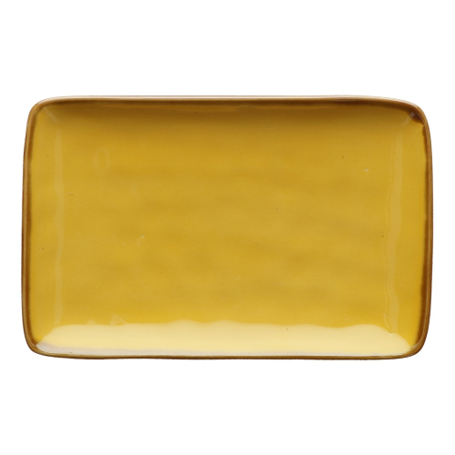 Concerto Pair of rectangular trays, L20 x W13cm, Yellow
