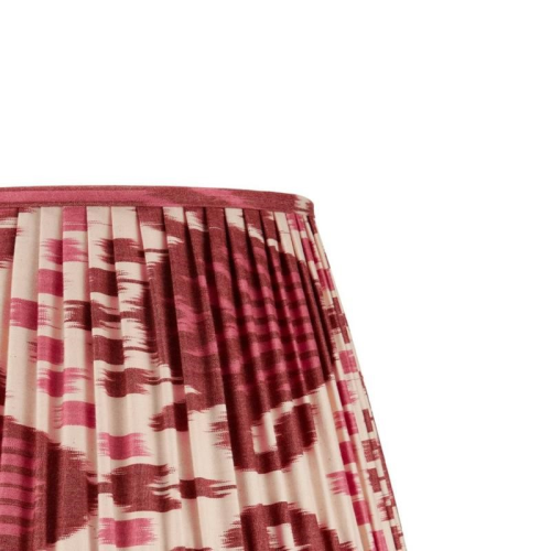 Ikat Lampshade, H45 x W30 x D30cm, Burgundy And Magenta