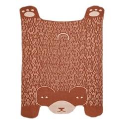 Bear Throw, L190 x W145cm, brown