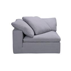 Corner Section Sofa, W110 x H60 x D110cm, Grey Linen
