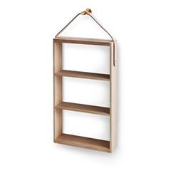 Norr Shelf, W36 x D10 x H76cm, oak/brass