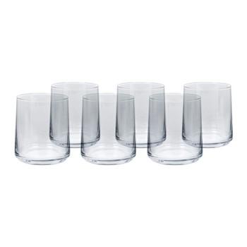 Set of 6 tumblers H9.5 x W8.6cm