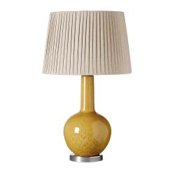 Grenadilla Table lamp (base only), H39 x D20cm, Saffron Ceramic