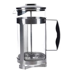 Trieste Cafetiere, 8 cup - 1 litre, metallic gray