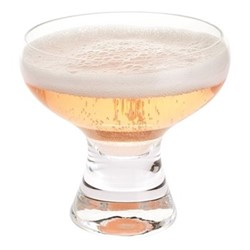 Home Bar Set of 4 coupe glasses, H9.5cm, clear