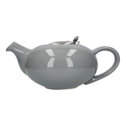Pebble 4 cup teapot, H9 x D17cm, light grey