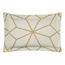 Axal Oxford pillowcase, 74 x 48cm, ochre