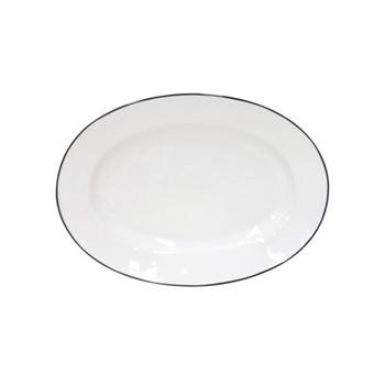 Beja Oval platter, 30cm, white