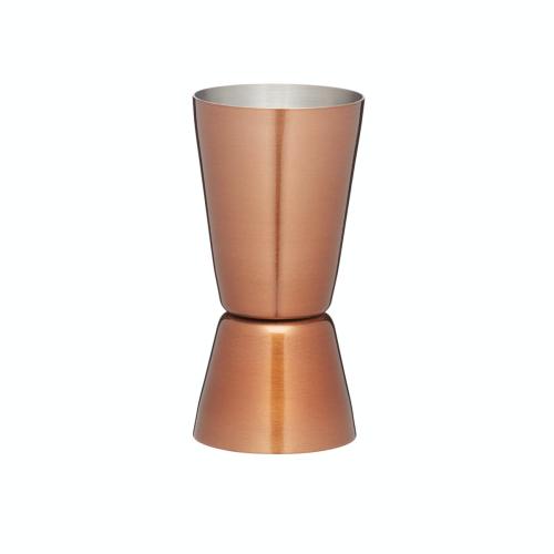 Multi measure cocktail jigger, 25/50ml, copper finish