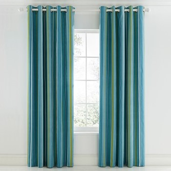 Mr Fox Curtains, L183 x W168cm, teal