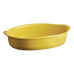 Provence Set of 3 medium oval oven dishes, L35 x W29cm - 230cl, yellow
