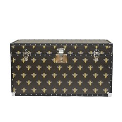 Bee Trunk, L80 x W40 x H42cm, black and gold