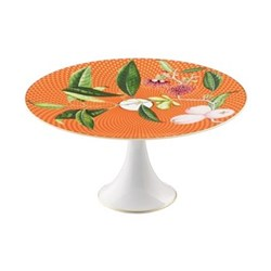 Tresor Fleuri Petit four stand, D22 x L11.0cm, orange