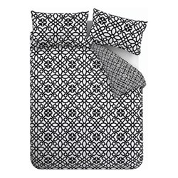 Medina Trellis Double duvet set, 200 x 200cm, black/white