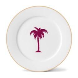 Palm Tree Side plate, 21cm, gold rim