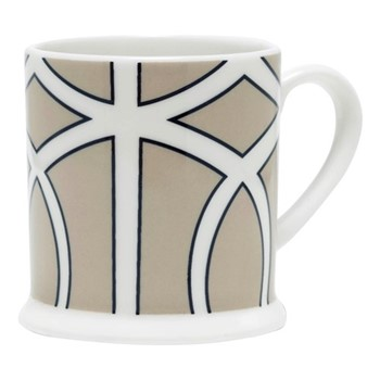 Loop Espresso cup, 6.6 x 6.1cm, truffle/white