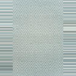 Diamond Polypropylene indoor/outdoor rug, W91 x L152cm, Light Blue/Ivory
