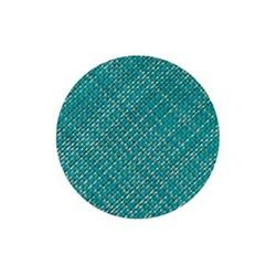 Mini Basketweave Set of 4 round coasters, 10cm, turquoise