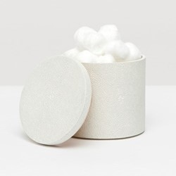 Manchester Canister, H11.5cm, snow faux shagreen