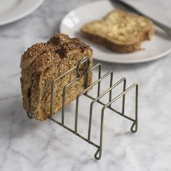 Brompton Toast rack, H12.50 x W14.30 x D8cm, antique brass finish