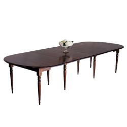 Petworth Dining table, 350 x 135 x 79cm, dark wood