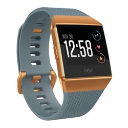 Fitbit Ionic Smart watch with heart rate monitor, W10.3 x D4.8cm, slate blue & burnt orange