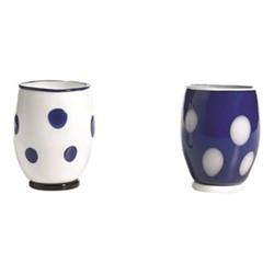 Bon Bon Set of 6 tumblers, 30cl, white/blue