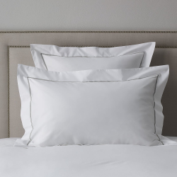 Savoy - 400 Thread Count Egyptian Cotton Oxford pillowcase, 50 x 75cm, Silver