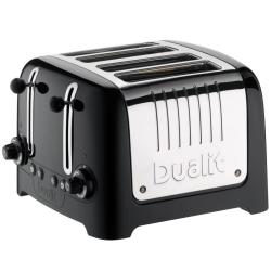 Lite 4 slot toaster, Black