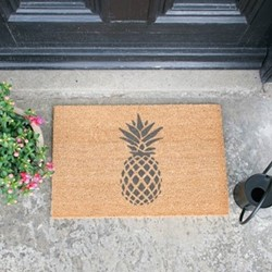 Pineapple Doormat, L60 x W40 x H1.5cm, grey