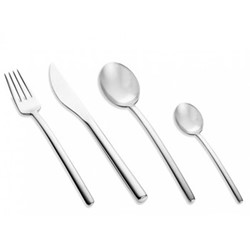 Due 24 piece cutlery set, brushed stainless steel