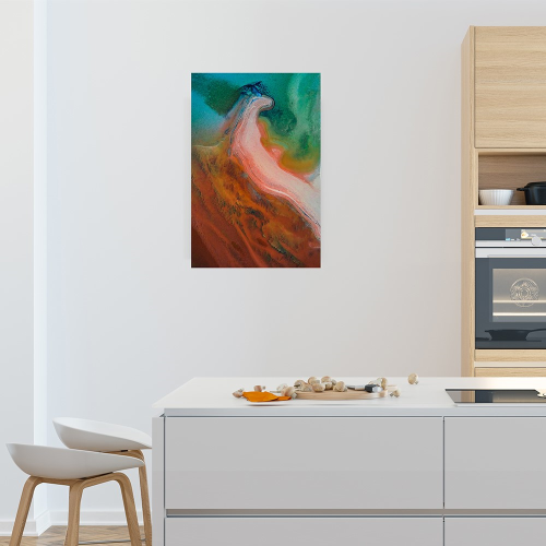 Shark Bay Colours Mounted print, H76 x W51cm, Perspex