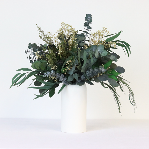 Greenery & Neutrals Large hand-tied bouquet, H42-48cm, Green