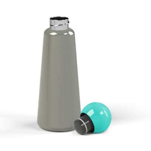 Skittle Water bottle, 500ml, Dark Grey/Sky Blue