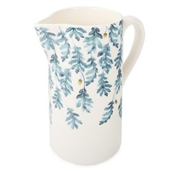 English Oak Straight pitcher, W19.5 x H23cm - 2 litre, teal/yellow