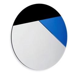 Nouveau 80 Wall mirror, Dia80 x 1.2cm, royal blue/black