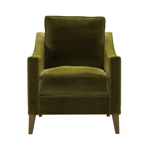 Iggy Armchair, H91 x W76 x D90cm, Olive