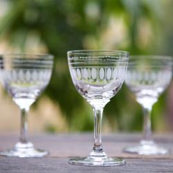 Ovals Set of 6 liqueur glasses, 80ml, Crystal