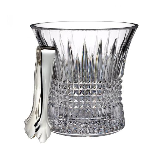 Lismore Diamond Ice bucket with tongs