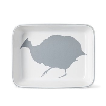 Guinea Fowl Rectangular baking dish, W27.5 x L21.5cm