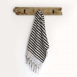 Terry Hand towel, 45 x 90cm, black & white spot